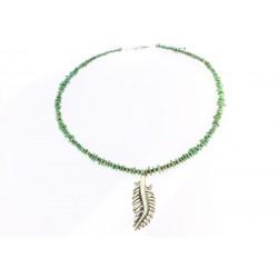 Halskette Türkis mit Feder